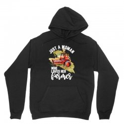 just a woman who loves her farmer for dark Unisex Hoodie | Artistshot