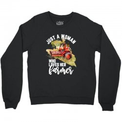 just a woman who loves her farmer for dark Crewneck Sweatshirt | Artistshot