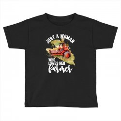 just a woman who loves her farmer for dark Toddler T-shirt | Artistshot
