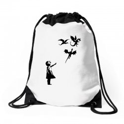 dragon and girls Drawstring Bags | Artistshot