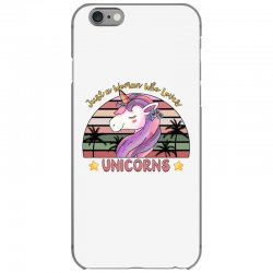 just a woman who loves  unicorns iPhone 6/6s Case | Artistshot