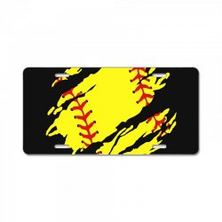 softball inside License Plate | Artistshot