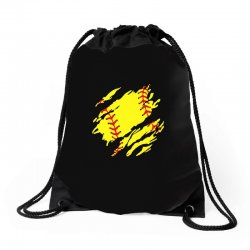 softball inside Drawstring Bags | Artistshot