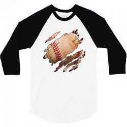 baseball inside 3/4 Sleeve Shirt | Artistshot