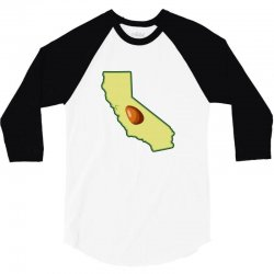 avocado california map 3/4 Sleeve Shirt | Artistshot