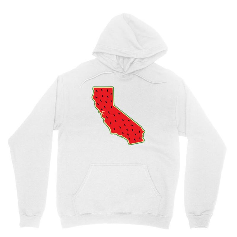 Watermelon California Map Unisex Hoodie | Artistshot