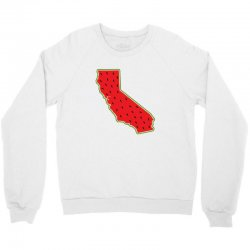 watermelon california map Crewneck Sweatshirt | Artistshot