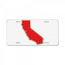 watermelon california map License Plate | Artistshot