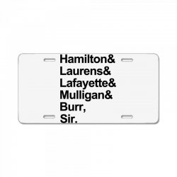 the hamilton crew for light License Plate | Artistshot