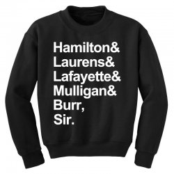 the hamilton crew for dark Youth Sweatshirt | Artistshot