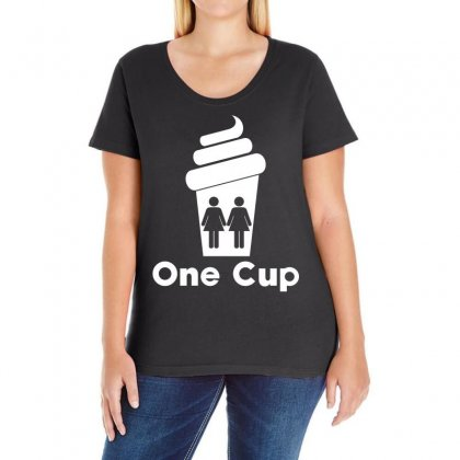 Two Girls One Cup Ladies Curvy T-shirt Designed By Slalomalt