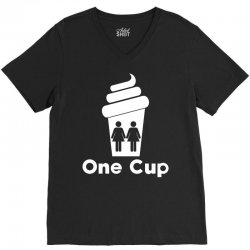 Two Girls One Cup V-Neck Tee | Artistshot