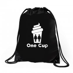Two Girls One Cup Drawstring Bags | Artistshot