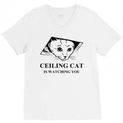 Ceiling Cat is Watching You V-Neck Tee | Artistshot