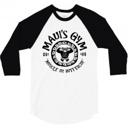 Mauis Gym Muscle Up Butter Cup 3/4 Sleeve Shirt | Artistshot