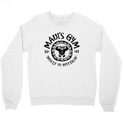 Mauis Gym Muscle Up Butter Cup Crewneck Sweatshirt | Artistshot