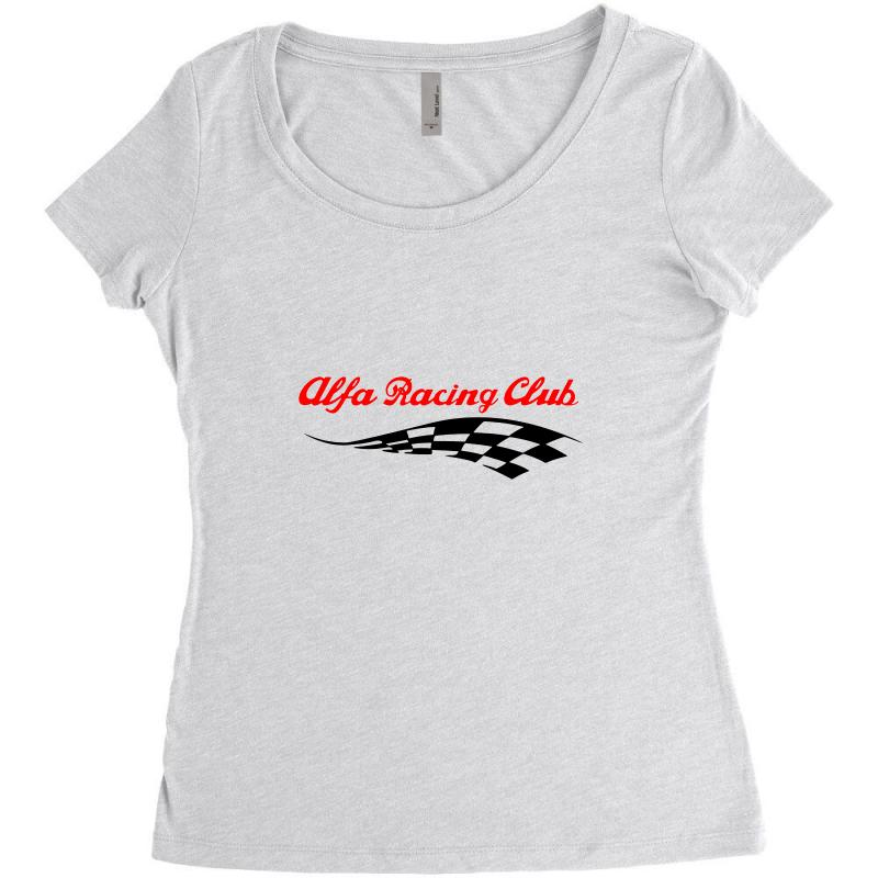 a8403b31 Custom Alfa Romeo Racing Logo Women's Triblend Scoop T-shirt By ...
