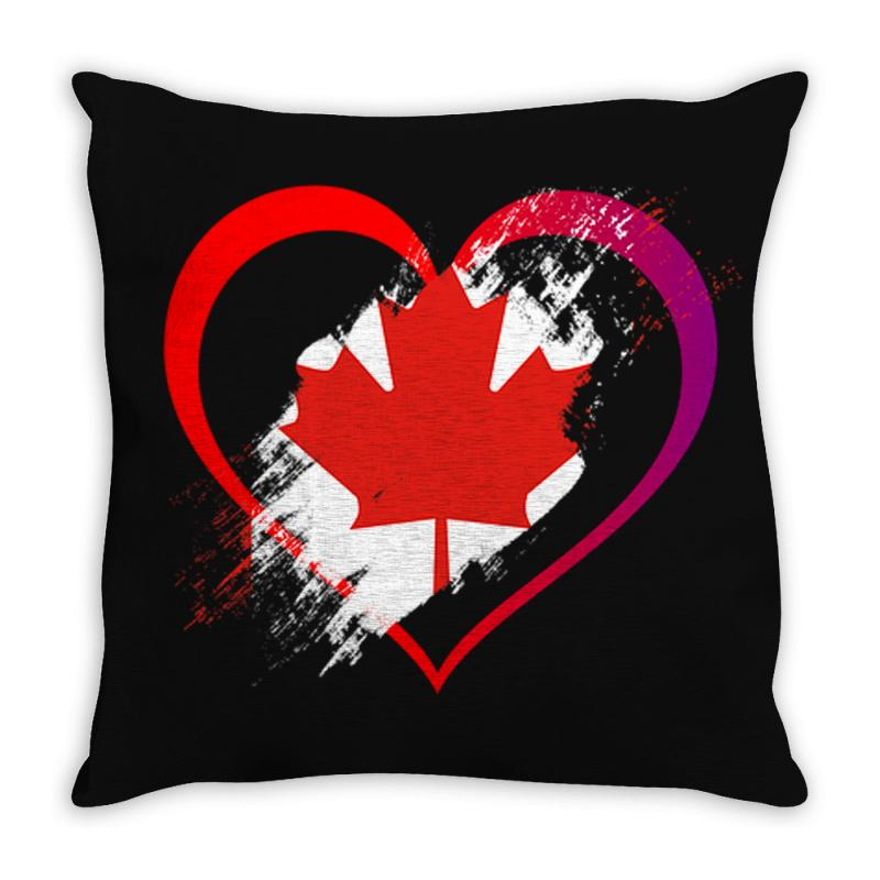 I Love Canada Throw Pillow | Artistshot
