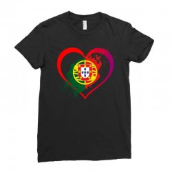i love portugal Ladies Fitted T-Shirt | Artistshot