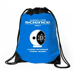march for science astronaut Drawstring Bags | Artistshot