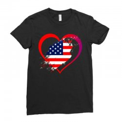 i love usa Ladies Fitted T-Shirt | Artistshot