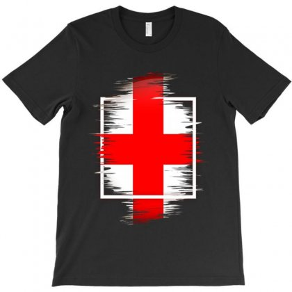 Love England T-shirt Designed By Frizidan