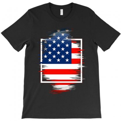 Love Usa T-shirt Designed By Frizidan
