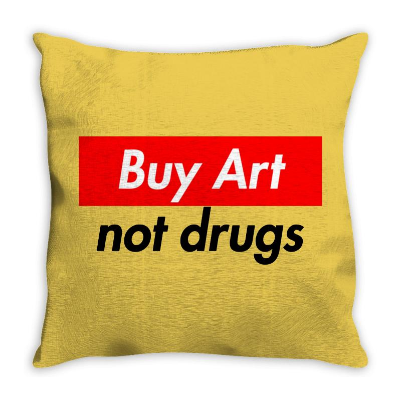 Buy Art Not Drugs Throw Pillow | Artistshot