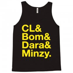 2ne1 cl and bom and dara and minzy   yellow Tank Top | Artistshot