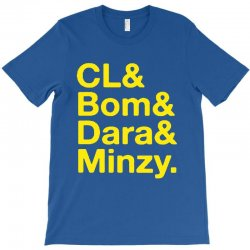 2ne1 cl and bom and dara and minzy   yellow T-Shirt | Artistshot