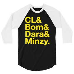 2ne1 cl and bom and dara and minzy   yellow 3/4 Sleeve Shirt | Artistshot