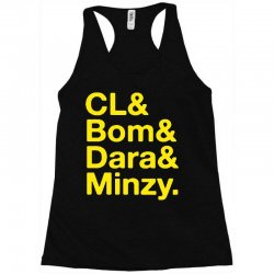 2ne1 cl and bom and dara and minzy   yellow Racerback Tank | Artistshot