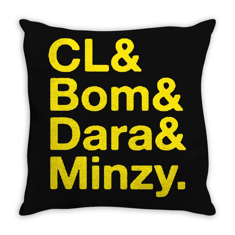 2ne1 Cl And Bom And Dara And Minzy   Yellow Throw Pillow | Artistshot
