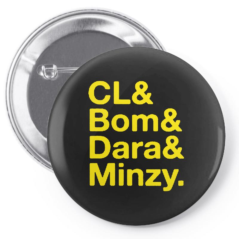 2ne1 Cl And Bom And Dara And Minzy   Yellow Pin-back Button | Artistshot