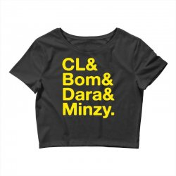 2ne1 cl and bom and dara and minzy   yellow Crop Top | Artistshot