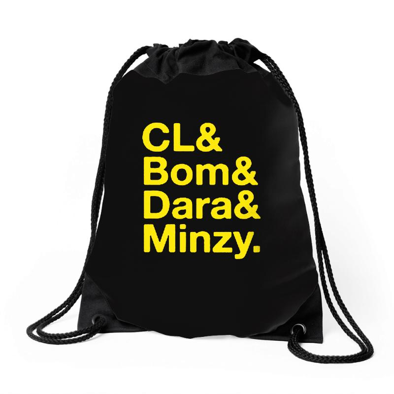 2ne1 Cl And Bom And Dara And Minzy   Yellow Drawstring Bags | Artistshot