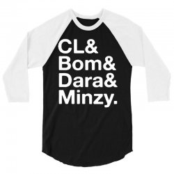 2ne1 cl and bom and dara and minzy   white 3/4 Sleeve Shirt | Artistshot