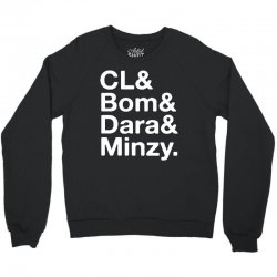 2ne1 cl and bom and dara and minzy   white Crewneck Sweatshirt | Artistshot