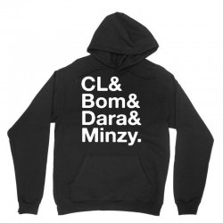 2ne1 cl and bom and dara and minzy   white Unisex Hoodie | Artistshot