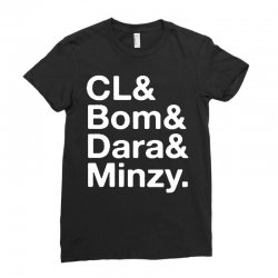 2ne1 cl and bom and dara and minzy   white Ladies Fitted T-Shirt | Artistshot