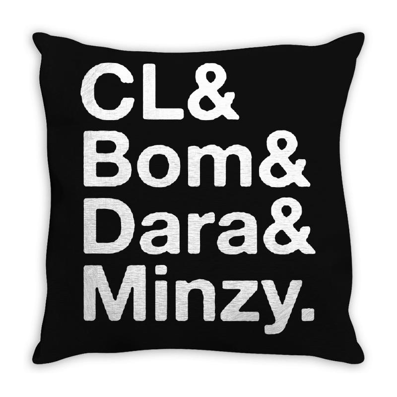 2ne1 Cl And Bom And Dara And Minzy   White Throw Pillow | Artistshot