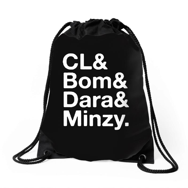 2ne1 Cl And Bom And Dara And Minzy   White Drawstring Bags | Artistshot