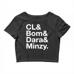 2ne1 cl and bom and dara and minzy   white Crop Top | Artistshot