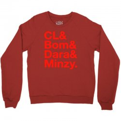 2ne1 cl and bom and dara and minzy   red Crewneck Sweatshirt | Artistshot