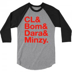 2ne1 cl and bom and dara and minzy   red 3/4 Sleeve Shirt | Artistshot