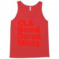 2ne1 cl and bom and dara and minzy   red Tank Top | Artistshot