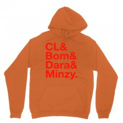 2ne1 cl and bom and dara and minzy   red Unisex Hoodie | Artistshot