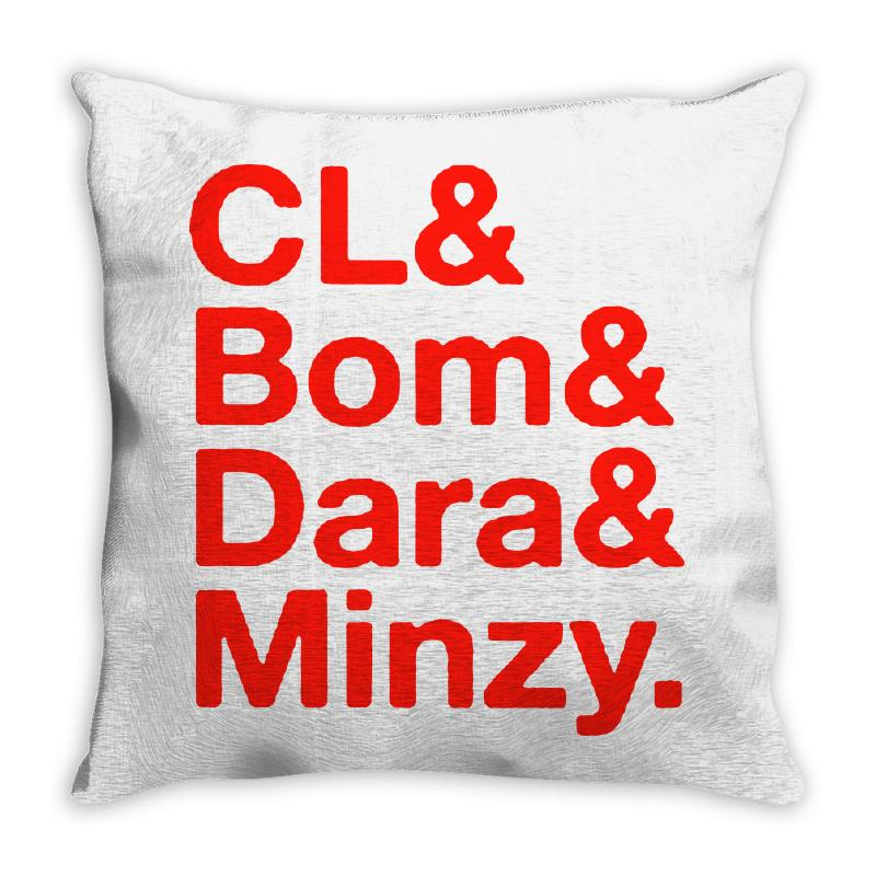 2ne1 Cl And Bom And Dara And Minzy   Red Throw Pillow | Artistshot
