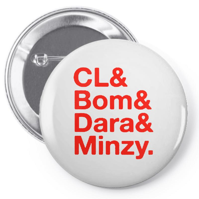 2ne1 Cl And Bom And Dara And Minzy   Red Pin-back Button | Artistshot