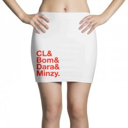 2ne1 cl and bom and dara and minzy   red Mini Skirts | Artistshot